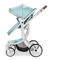 Aimile baby stroller to fold aluminum frame, two sided shock absorber all season, free shipping to RU rubber PU wheels