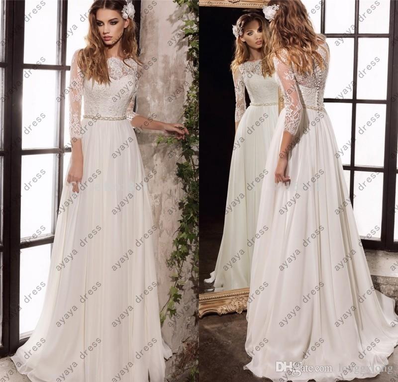 Ivory Greek Goddess 2017 Ivory Bohemia Wedding Dresses: Wejanedress Elegant 2017 Lace Bohemian Wedding Dresses