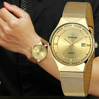 Mens Watches Top Brand Luxury Gold Watch Men Watches Fashion Casual Quartz Watch Male Steel Bracelet