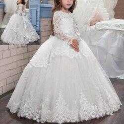 Элегантное платье для девочек; Пышное Бальное платье из тюля для маленьких детей; винтажное платье принцессы для свадебной вечеринки; круже...