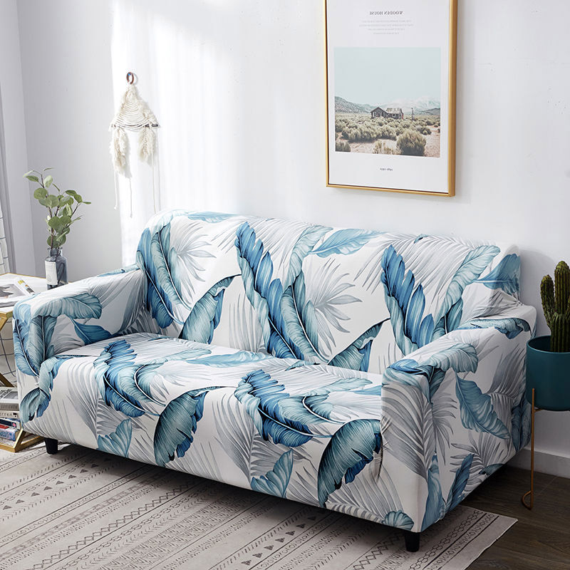 Polyester Couch Cover in Leaf and Flower Pattern for Single to 4 Seated Sofa in Living Room 3