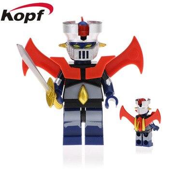 XL020 Building Blocks Robot God Mazinger Z As The Ancestor Infinity Mazinger Iron Man 28 Fx Bricks Figures For Children Toys