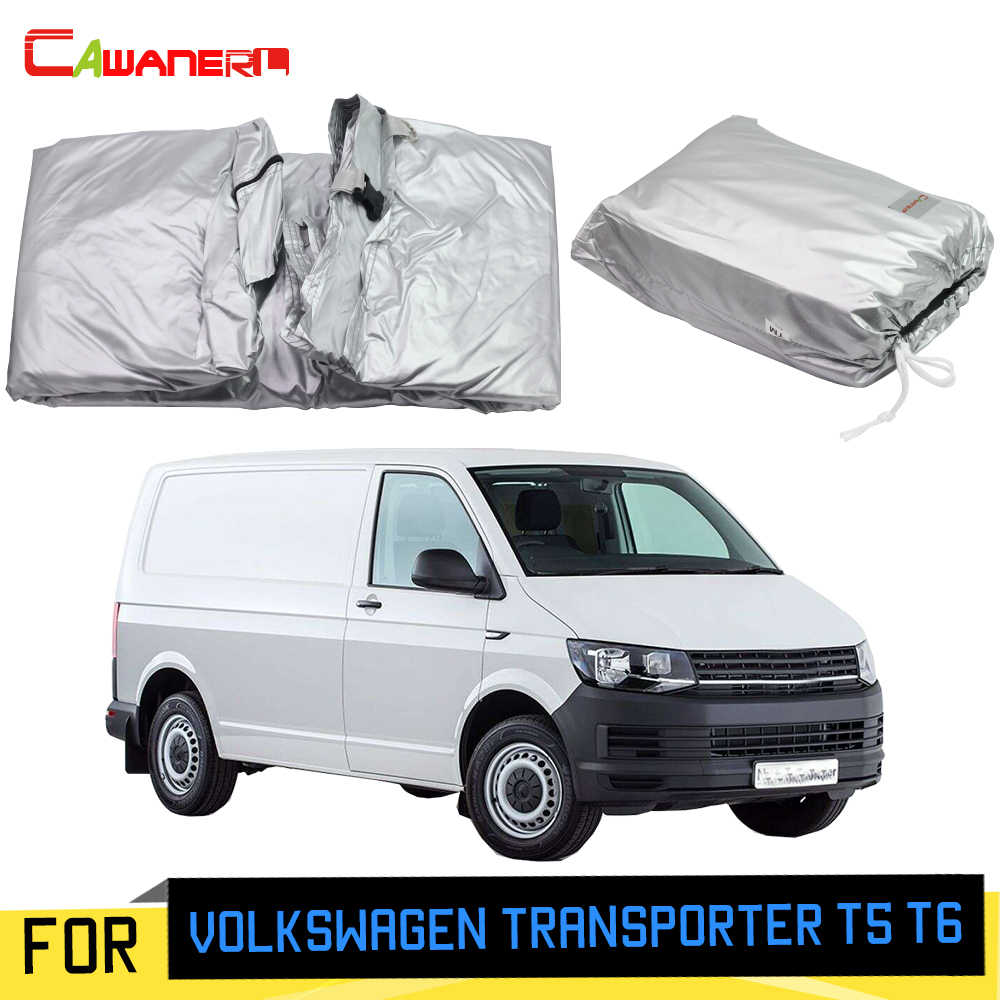 Cawanerl For Volkswagen Transporter T5 T6 Car Cover Anti-UV Outdoor Sun Rain Snow Protection MPV Cover With Anti-Theft Lock