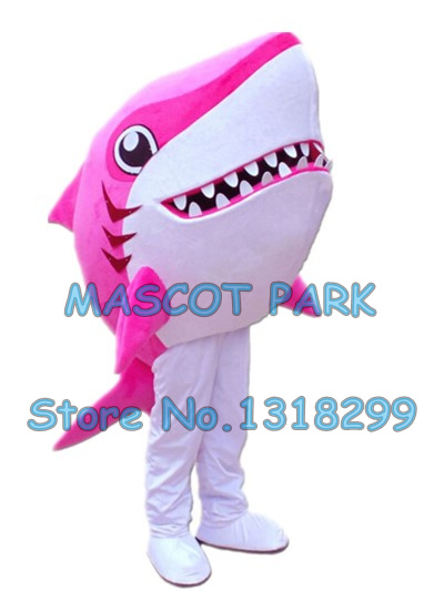 Bande dessinée rose requin mascotte costume new custom vente chaude mer animaux requin thème anime cosply costumes carnaval fantaisie robe 2941