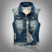 2014 Tidal Current Male Slim Men S Clothing Vest Male Denim Vest Male Denim Vest
