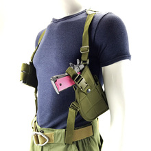 Multicolor 600D Nylon Adjustable Armpit Pistol Holster Paintball Shooting Wargame Tactical Combat Horizontal Shoulder