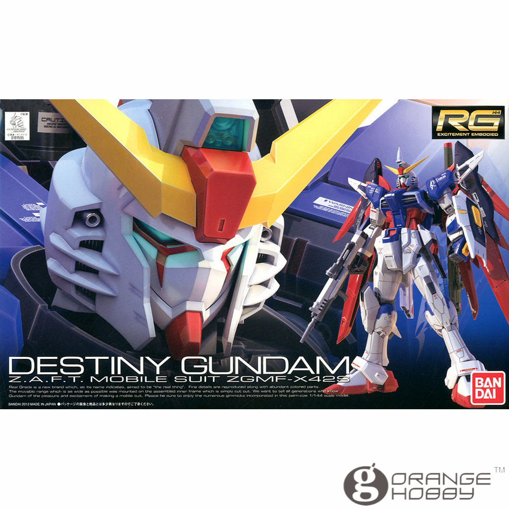 OHS Bandai RG 11 1/144 ZGMF-X42S Destiny Gundam Mobile Suit Assembly Model Kits oh ohs bandai sd bb 385 q ver knight unicorn gundam mobile suit assembly model kits oh