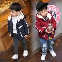 Baby Toddler Kid Boy Autumn Winter Long Sleeve Striped Hooded Coat Cloak Jacket Thick Warm Clothes