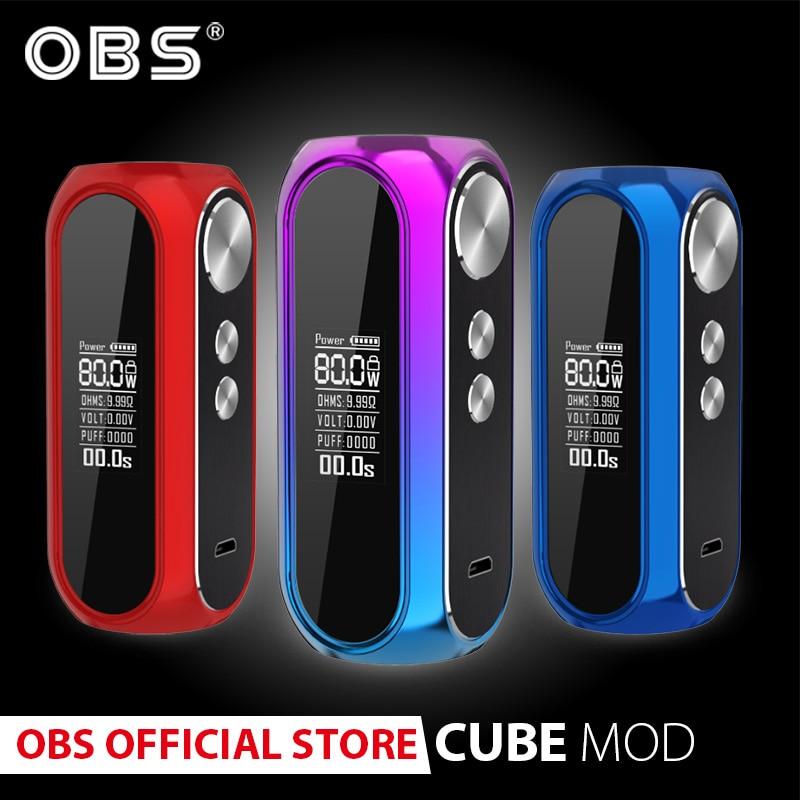 Original OBS cubemod 3000 mah batterie intégrée 80 w sortie e-cigarette boîte mod