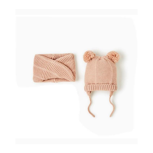 Bebé invierno sombrero y bufanda conjunto Pom pom Beanie sombrero ...