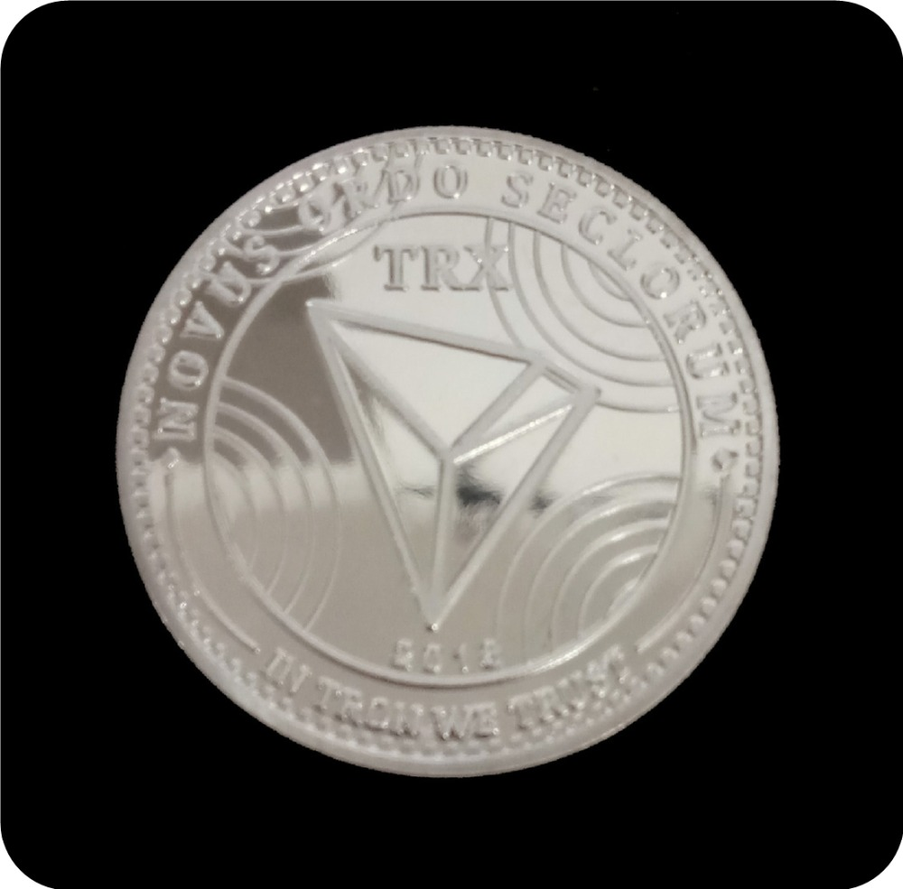 New Non-currency TRX Coins Virtual Metal Commemorative Coins TRX Coins Bitcoin Commemorative Coins Gift Drop Shipping 4