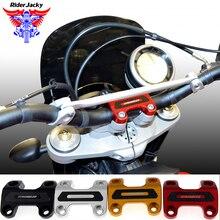 CNC Aluminum Motorcycle Hand bar riser Clamp Bracket For Ducati SCRAMBLER цены