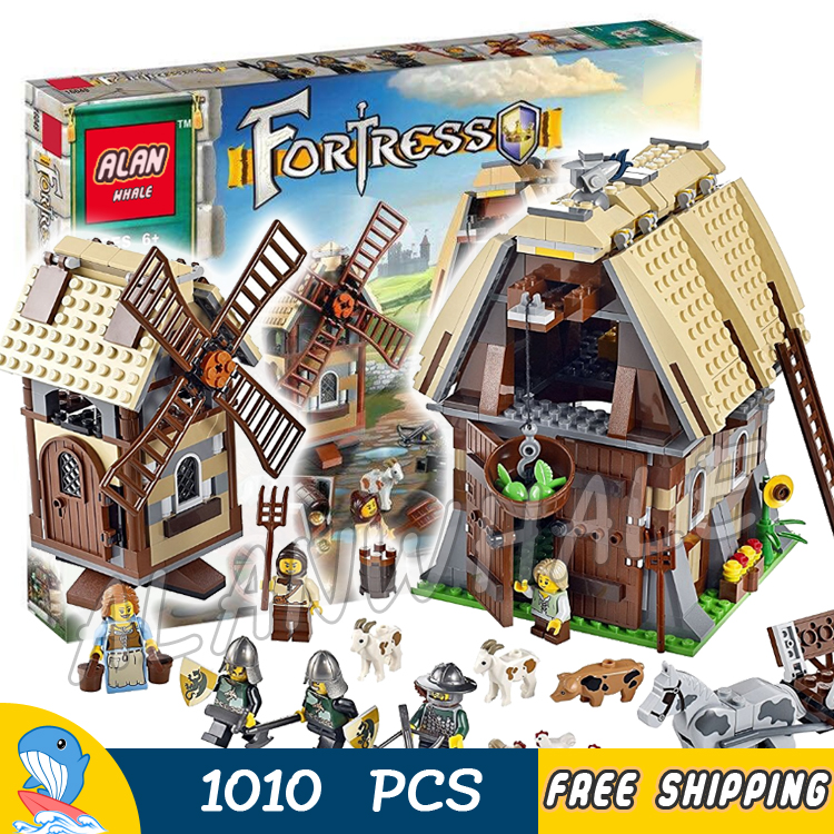1010pcs Kingdoms Castle Mill Village Raid Knights 16049 Model Building Blocks Children Assemble Toys Bricks Compatible With lego