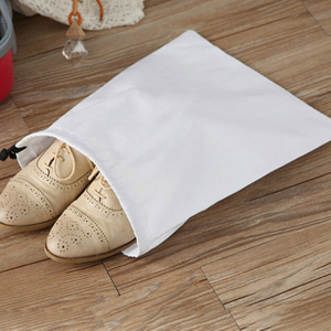 Image 4 - 50PCS Cotton Bags Jewelry Packaging Pouch Cloth Dustproof Drawstring Bag Storage Gift Party Shoes Packing Sack Custom Logo Print