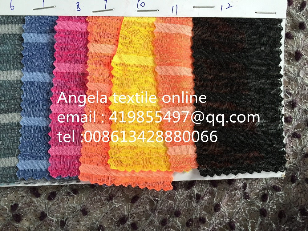 4d0bca83965 High Quality Small Stripe Thin Fabric Wholesale yard/roll Jersey Fabric  sewing textile Cloth dress