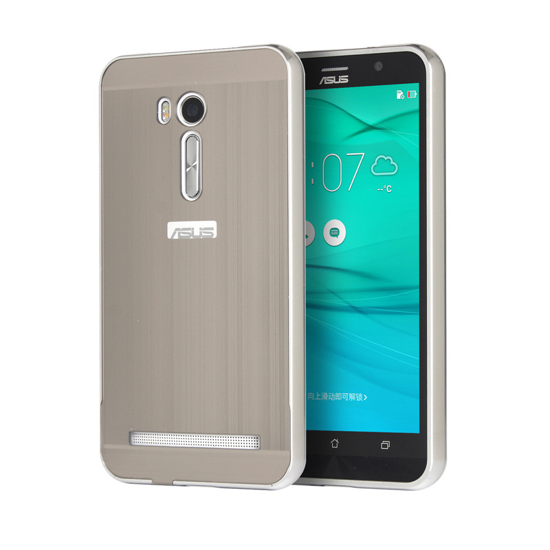 more photos 150f7 80913 US $6.49 |Brushed Phone Case for Asus Zenfone Go TV ZB551kl Metal Frame  with Back Cover Case for Asus Zenfone Go TV 5.5