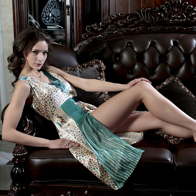 The skirt with shoulder-straps Women in the Summer Palace Sleeveless silk sexy household to take