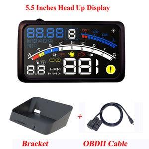 Image 1 - ActiSafety ASH 4E 5.5 インチ車 OBD2 II EUOBD 車 Hud ヘッドアップディスプレイブラケット車の速度超過警告システム 4E HUD 車