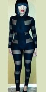 5baa0b50cbf8 New 2014 Women Celebrity Black Gold Silver Overall Wet Metal Liquid ...