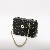 d1216b0c3 Chain Rivet Design Purse Women Clutch Luxury Brand Hand Bags Lady Wallets