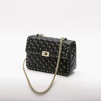 d1216b0c3 Chain Rivet Design Purse Women Clutch Luxury Brand Hand Bags Lady Wallets