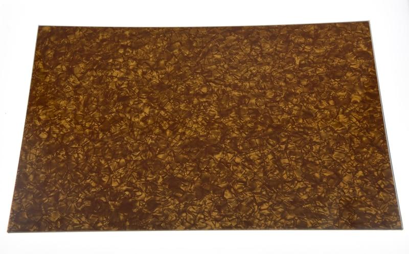 KASIH Gold Pearl Blank Pickguard Scratch Plate Material Sheet 290x430(mm) musiclily 3ply 290 435mm electric guitar bass pickguard material pick guard scratch plate sheet blank