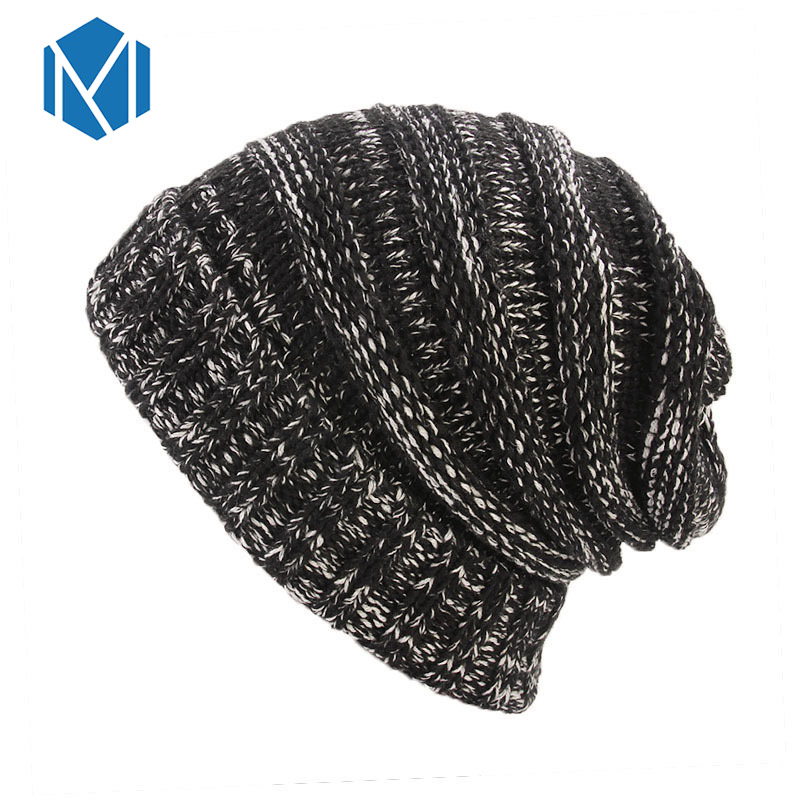 b3da6c3541ac8 ... Winter Hats for Women Stacking Knitted Hat Casual Unisex Solid Color  Knitting Wool Spring Hat Hip ...