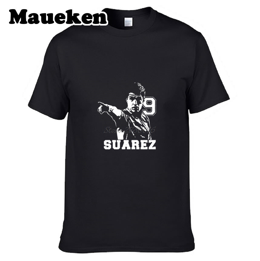 Men Uruguay Striker  9 Luis Suarez T shirt Clothes T Shirt Men s for  barcelona Uruguay fans gift o neck tee W0528006-in T-Shirts from Men s  Clothing on ... 204c0005b