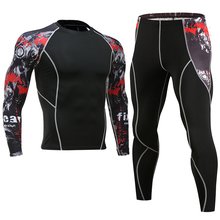 New 2019 clothing XL tight mens compression set long-sleeved T-shirt suit