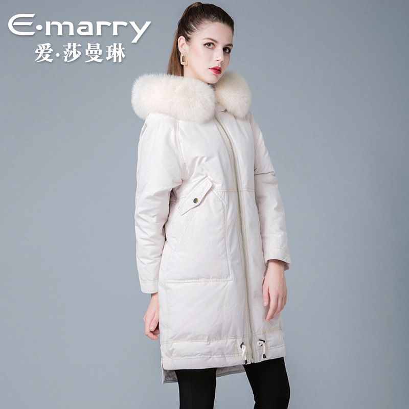 The new winter 2018 ladies fox collars 90 white duck   down     coats   women 8841229 sent to overcome his   coat