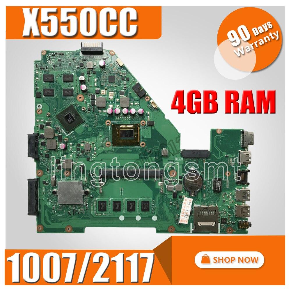X550CC Carte Mère 1007u/2117u REV2.0 Pour ASUS X550CC X550CL mère D'ordinateur Portable X550CC Carte Mère X550CC Carte Mère test 100% OK