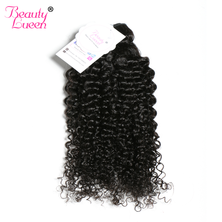 Brazilian Kinky Curly Hair Weave Human Hair Bundles Weave Natural Black Non Remy Hair Extension Can be dyed BEAUTY LUEEN
