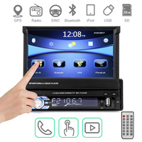 1 Din 7 HD Car Radio Autoradio GPS Bluetooth Car Stereo Touch Screen Handsfree DVD FM