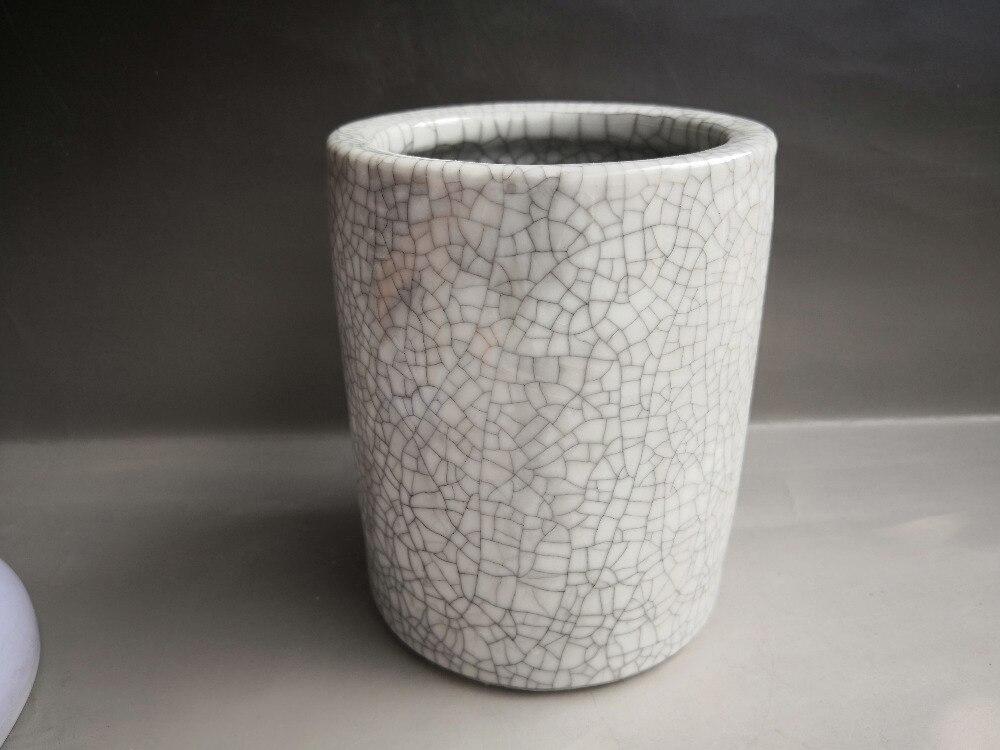 Stylo de glaçure craquelé vieux porcelaine | Porcelaine chinoise, conteneur de brosses, Pots