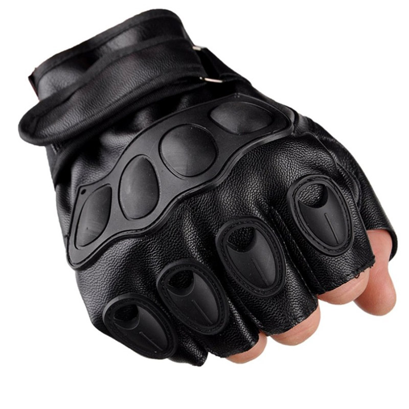 LESHP-Half-Finger-Gloves-PU-Leather-Men-Gloves-For-Tactical-Military-Exercise-Training-Sports-Motorcycle-Ridding (5)