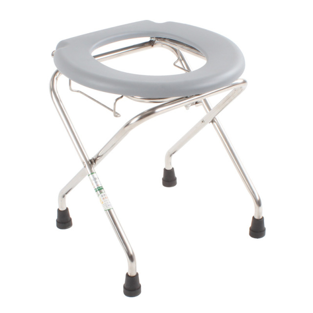 Stainless Steel Folding Commode chair seamount old pregnant patient ...