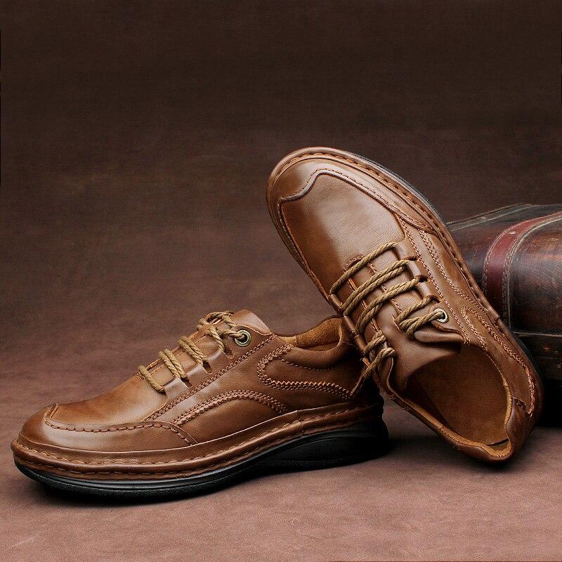 De Mano Hombres Grain Tobillo Clásicos Autumn A Boots Marca Brown Boots Casual Zapatos Hecho brown Full Ege Trabajan yellow Para Los Cuero Boots Botas Winter 5qO6c8Ew