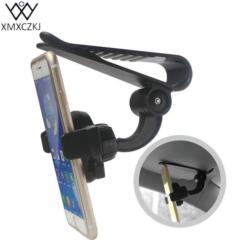 Universal Car Mobile Phone holder Auto Clip 360 Rotation Car Sun Visor Clip Holder Mount Stand For iPhone Samsung Huawei HTC GPS ...