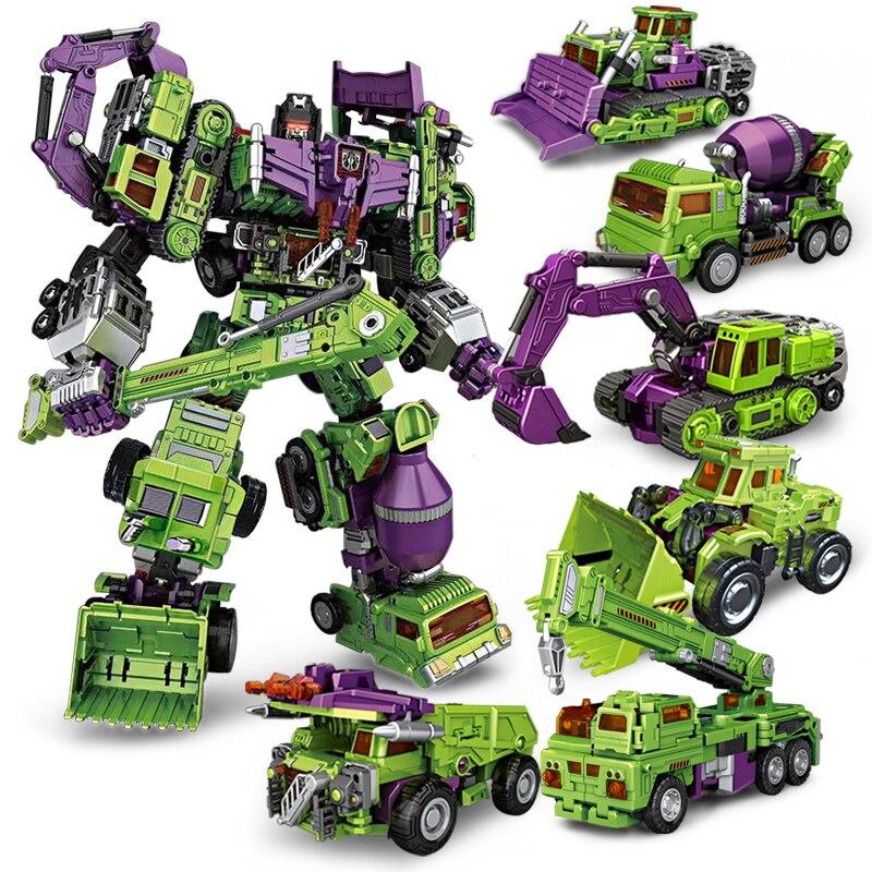 Transformation Voltron Soul Beast King Robot 6 in 1 Bulldozer Bonecrusher Gravity Builder Devastator Action Figure Toys For Kids цена