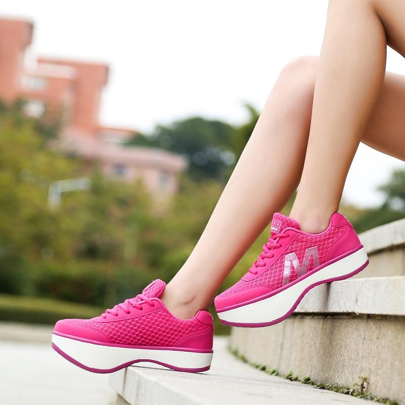 Sport & Unterhaltung Fitness & Bodybuilding Swyivy Frauen Abnehmen Schuhe Ofenrohr Körper Sculpting Halb-füße Schuhe 2018 Verlieren Wight Massage Weibliche Toning Schuhe Negativen Ferse