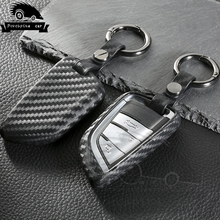 Carbon fiber Silica gel Cover Case Remote Key Car Case For BMW F20 F30 X1 X3 X5 X6 E30 E34 E36 E39 E46 E60 E90 Key Shell kukakey leather car key case key bag for bmw f30 f20 x1 x3 x5 e30 e34 e90 e60 e36 e39 e46 car key cover car styling accessories