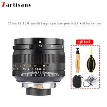 7 artesãos 50mm f1.1 lente de montagem em m para câmera leica m-m m240 m3 m5 m6 m7 m8 m9 m9p m10 leica m