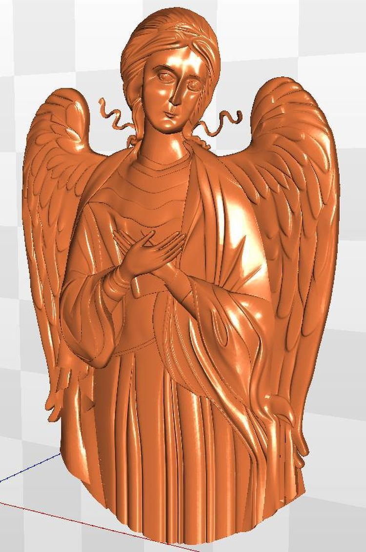 Angel_1 Artcam Model For Cnc Relief   STL  File Format
