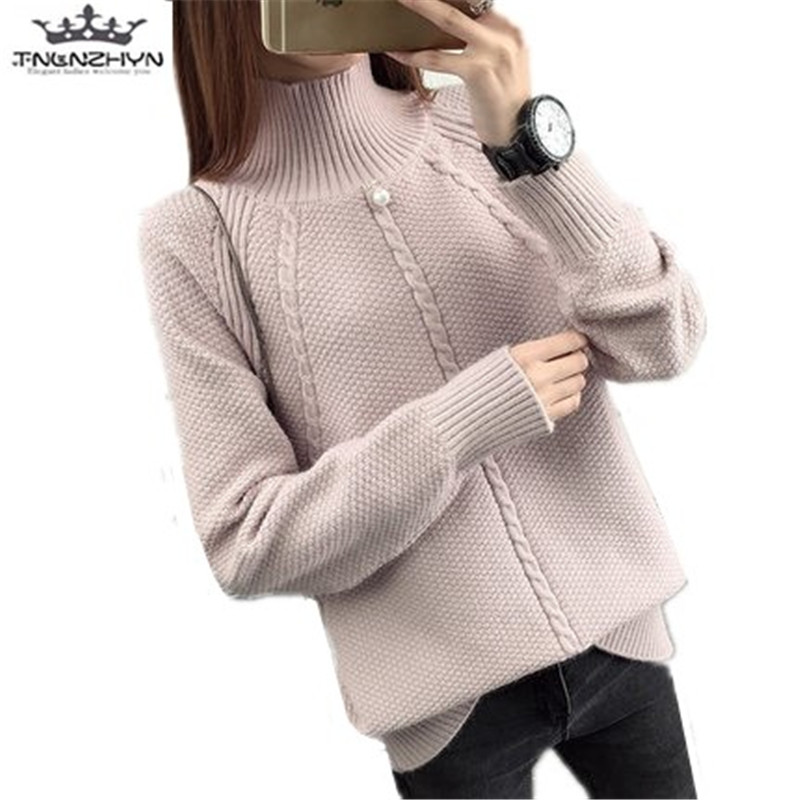 tnlnzhyn 2017 New Autumn Winter Women Sweaters Slim Turtleneck Knitted Pullovers Female Women Sweaters And Pullovers Y575