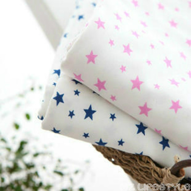 Buulqo Gedruckt Sterne Muster Baumwolle Gestrickte Stoff DIY nähen ...