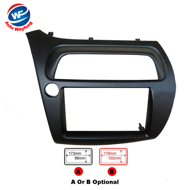 2Din Car DVD Frame Fit for Honda for Civic Left FN Model Dash Kit ...