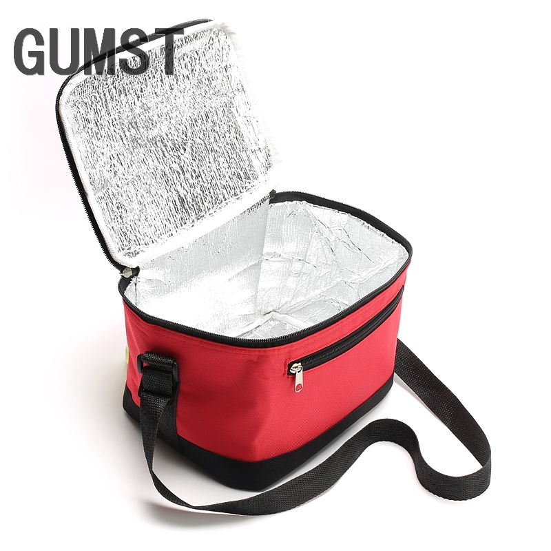 GUMST Travel Patchwork Nylon Lunch Box Thermal Women's Lovely Insulation Cooler Bags Kids Practical Small Portable Cooler Bags