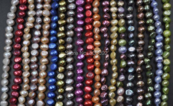 wholesale 38 strands 6-7mm genuine mix fresh water pearl lots