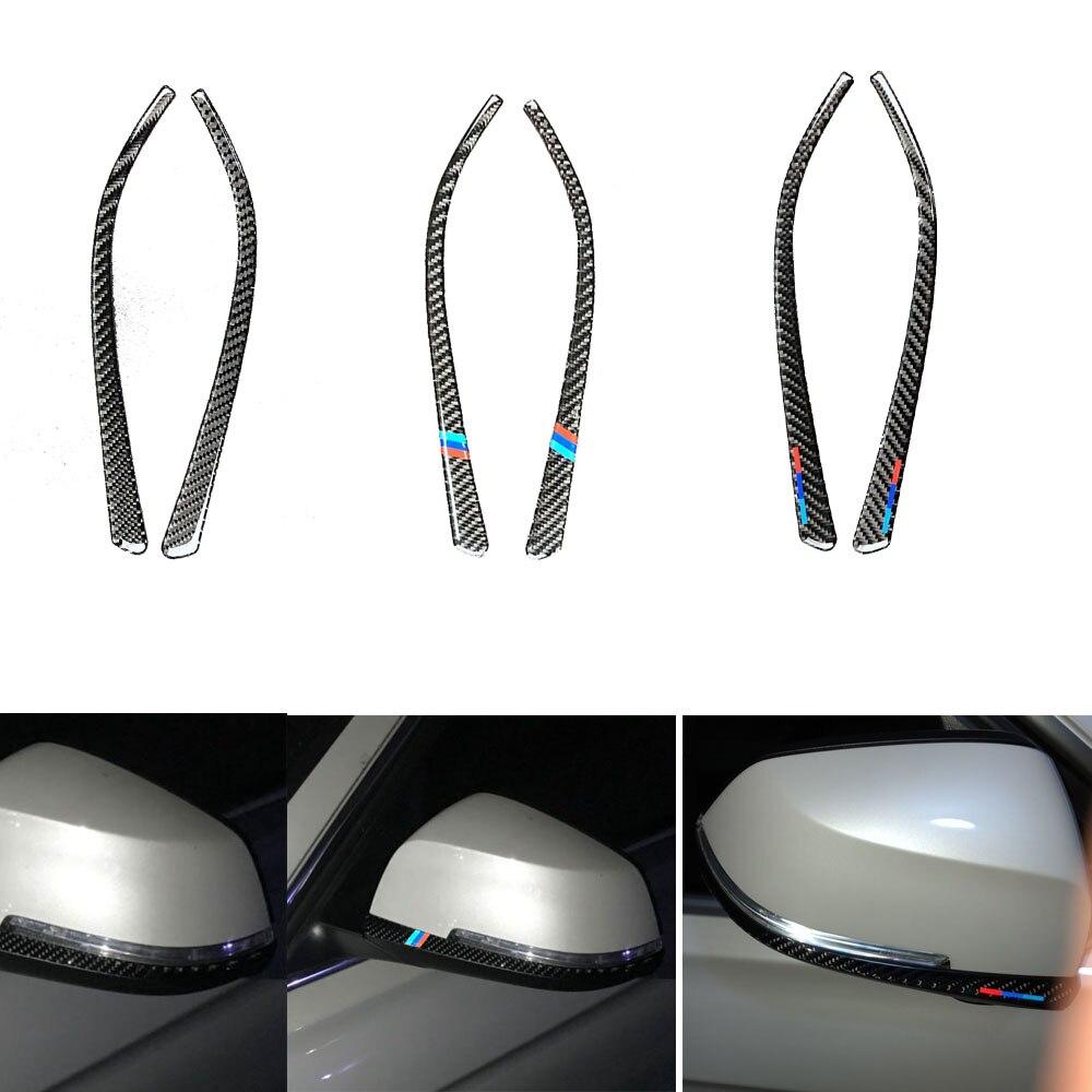 Carbon Fiber Rearview Mirror Anti-Rub Strips Protector Sticker for bmw f30 f34 3 Series 3GT Anti-collision Strip Car Accessories