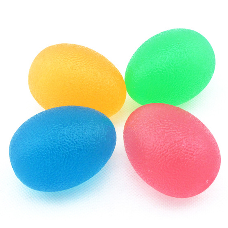 Silicone Egg Massage Hand Expander Gripper Strengths Stress Relief Power Ball Forearm Finger Exercise Fitness Training Equipment